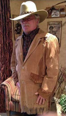 Steven Handcrafted Western Indian Beaded And Fringed Long Coat