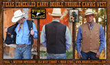 Texas Canvas Concealed Carry Vest