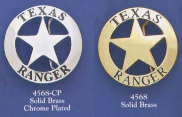 Belt Buckles -Texas Rangers - Circle Star - Solid Brass