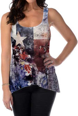 Lady Liberty Texas Fleur Tank Top