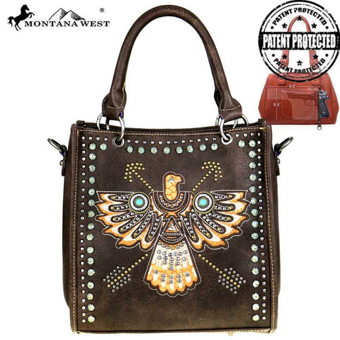 Montana West Thunderbird Concealed Handgun Satchel/Crossbody Bag