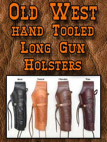 Best Seller! Western Impressions Hand Tooled Leather Holster - Long