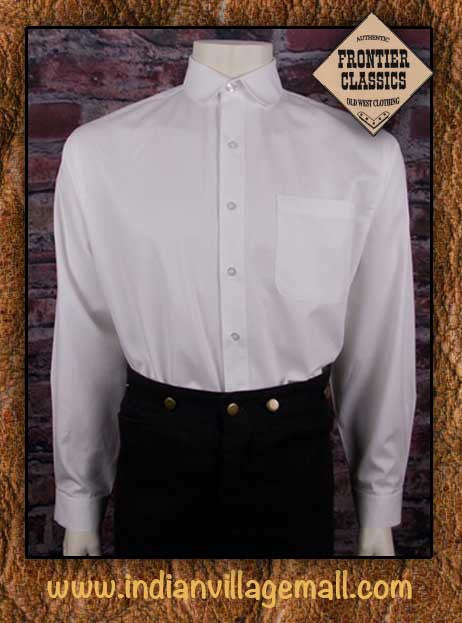 Frontier Classic Old West Virgil Earp Shirt- Sold White