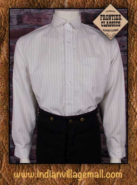 Frontier Classic Old West Virgil Earp Shirt- White Strip