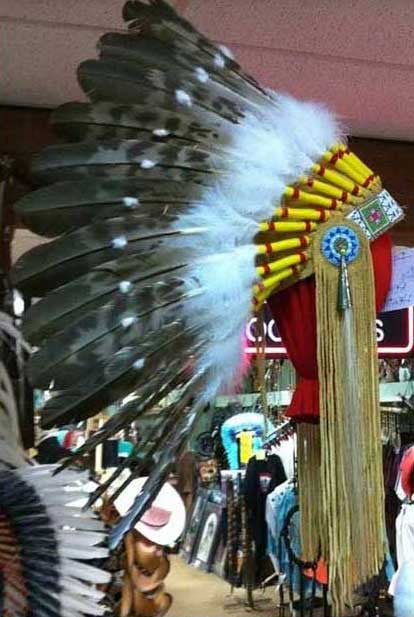 WB-2 War Bonnet, Museum Quality From Laughing Eagle-Handmade And American Made.