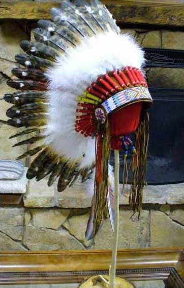 WB1 Handcrafted Headdress War Bonnet By  Laughing Eagle