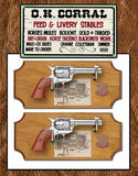 Museum Quality Wyatt Earp Replica Revolver Frame Set Light Wood Or Dark Wood