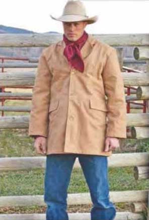 Wanted Dead Or Alive Style Cotton Canvas Western Cowboy Coat