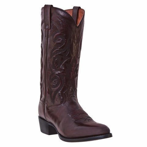 """Doc Holliday"" Old West Dan Post Cowboy Boot Black Cherry"