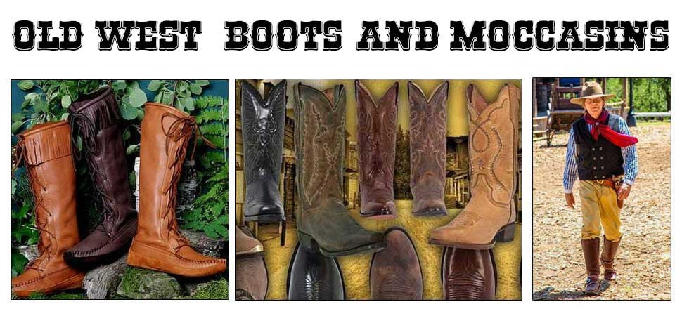 Old West Cowboy Boot And Moccasin Collections