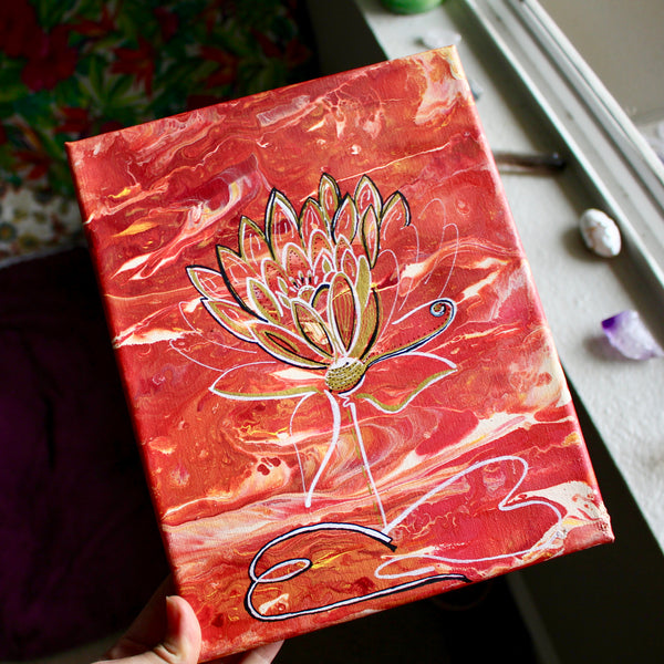Golden Lotus Canvas ORIGINAL