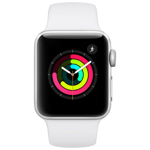 Montre Intelligente Apple Watch Serie 3 38mm Aluminium Blanc MTEY2CL/A - Club Electronic