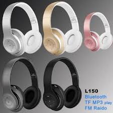 Wireless L150 Headphones Bluetooth Stereo Foldable Headset Audio Mp3 Adjustable Earphones with Mic