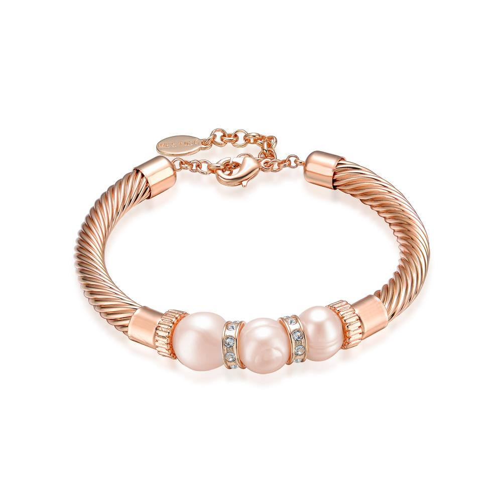 Lithe Freshwater Pearl Bracelet In Rose Gold