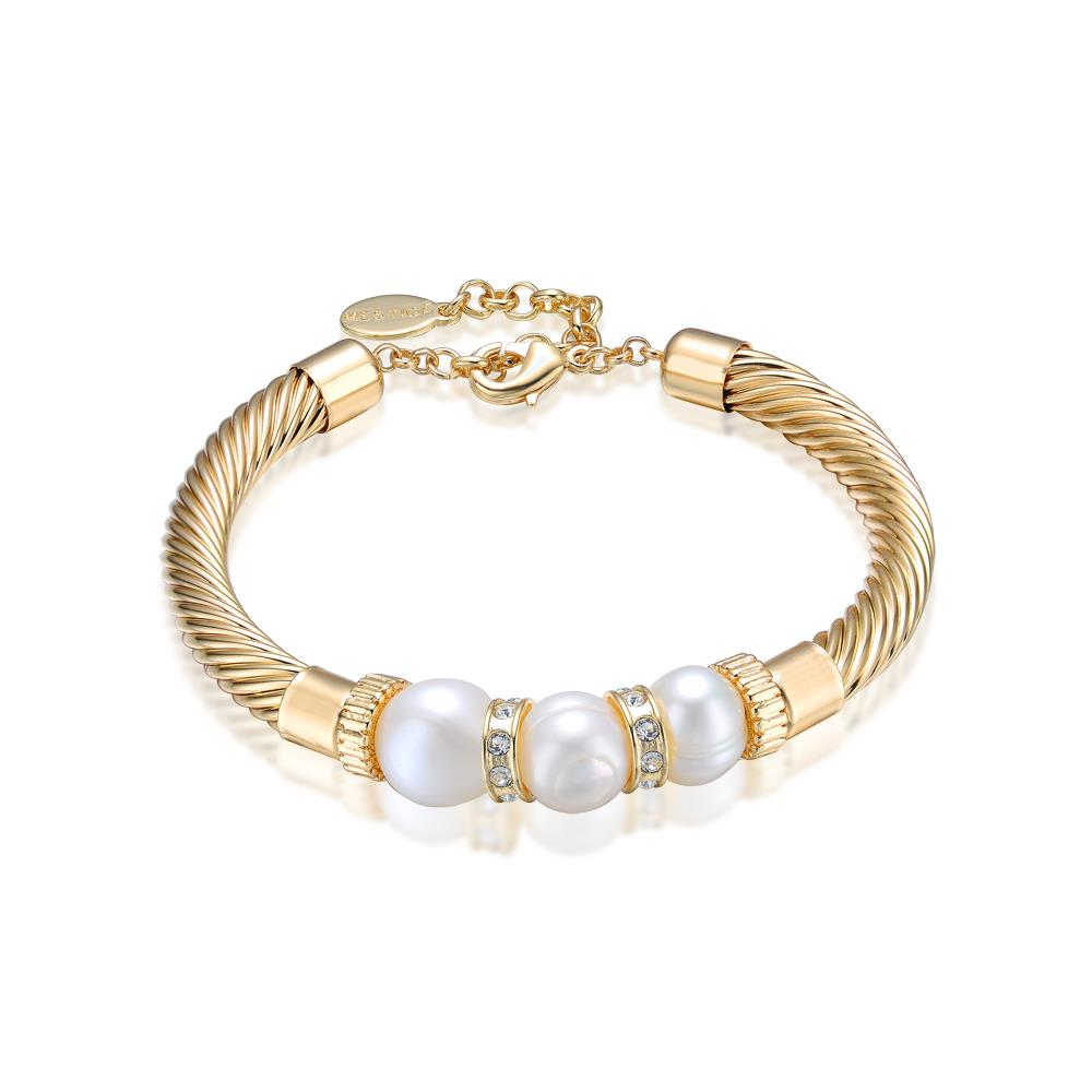 Lithe Freshwater Pearl Bracelet In Gold