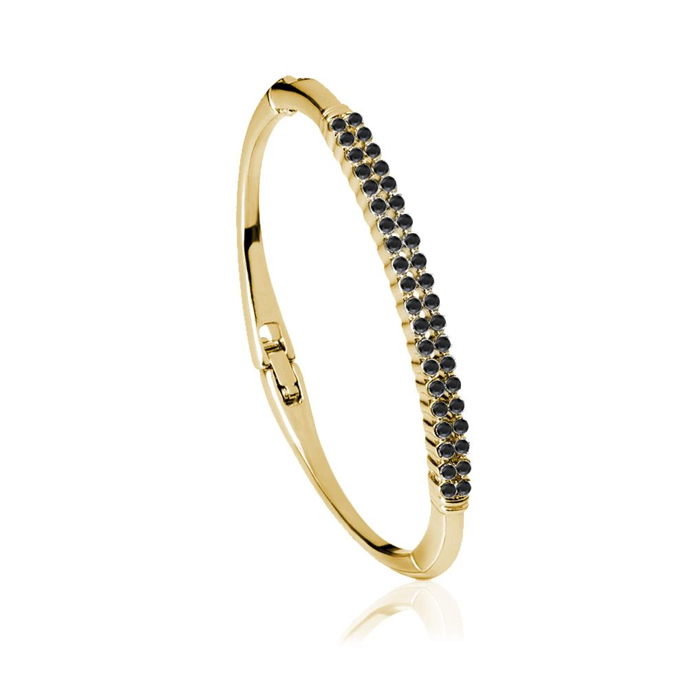 Black Twin Roads Bracelet in Gold