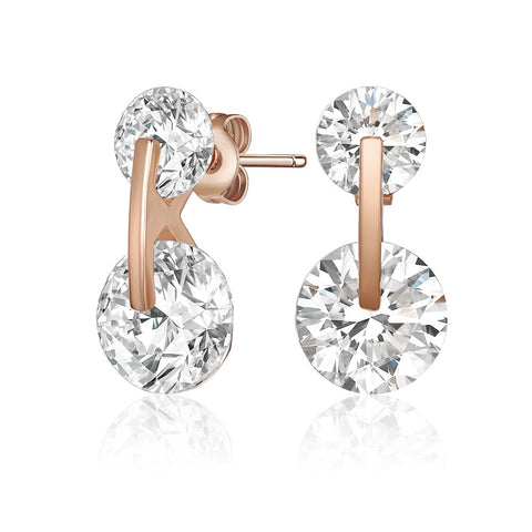 Rose Gold Livie Earrings