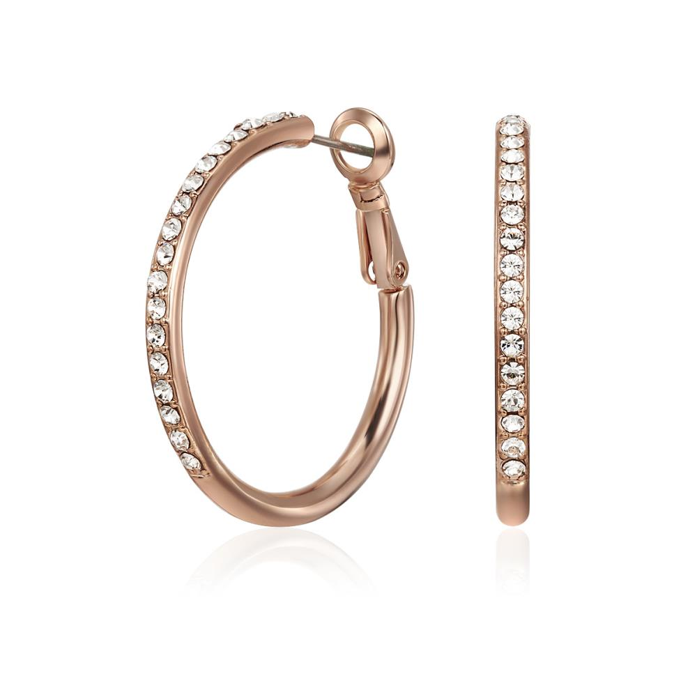 Rose Gold Bailee Hoop Earrings