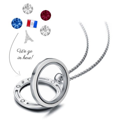 Bonjour Floating Charm Necklace