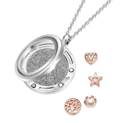 Fresh Start Dual Floating Charm Necklace