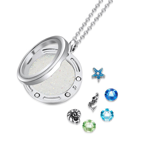 Little Mermaid Floating Charm Necklace