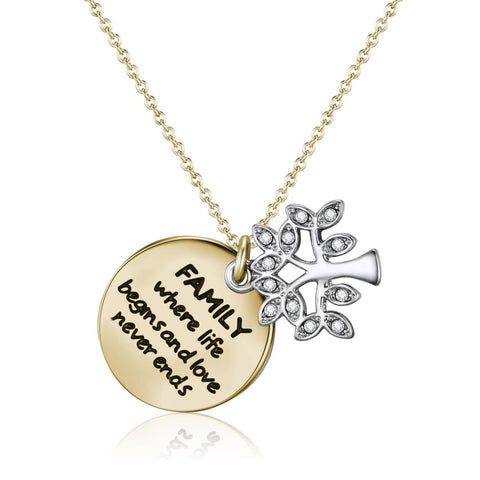 Gold Family Forever Necklace