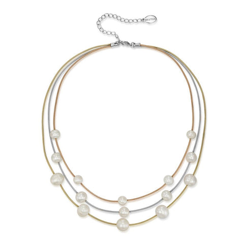 Athena Trinity Freshwater Pearl Necklace