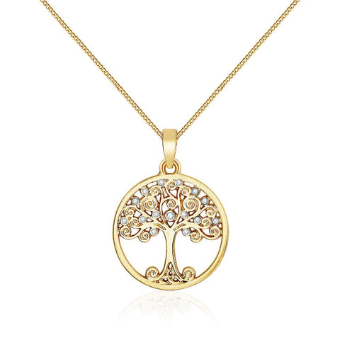 Enlightened Tree Of Life Necklace In Gold