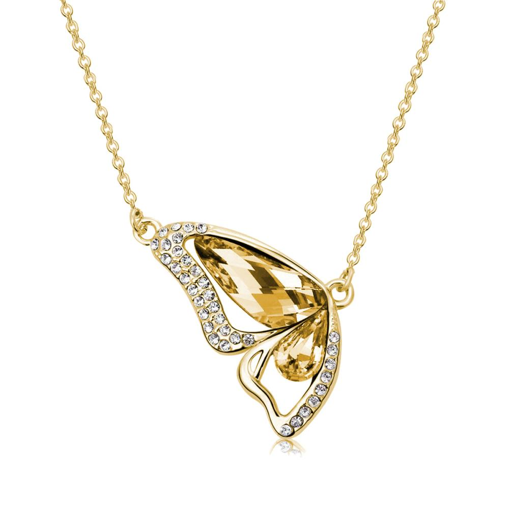 Golden Shadow Monarch Necklace