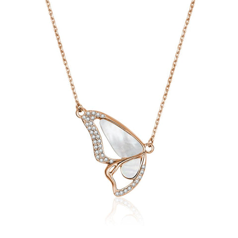 Rose Gold Monarch Pearl Necklace