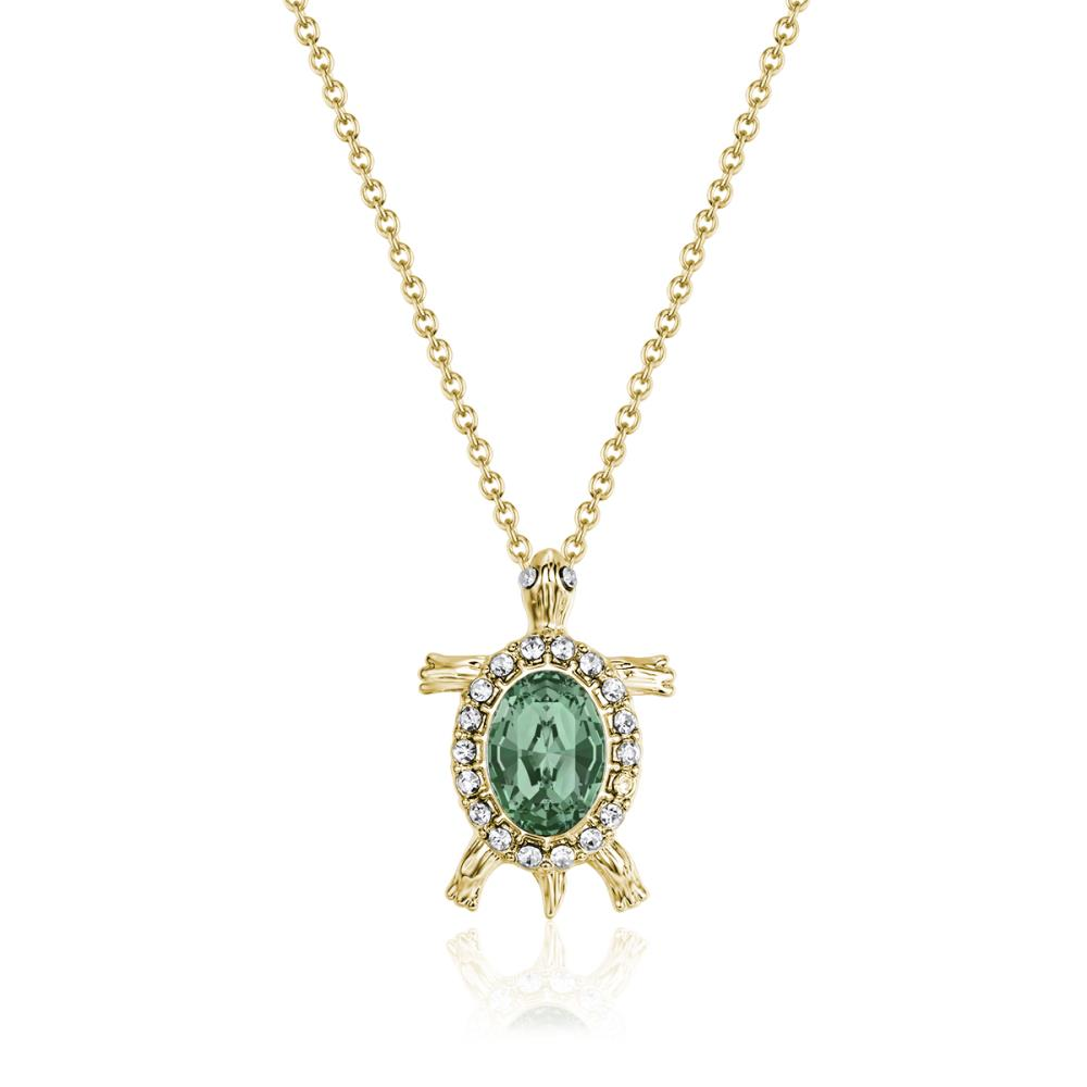 Gold Emerald Sea Turtle Necklace