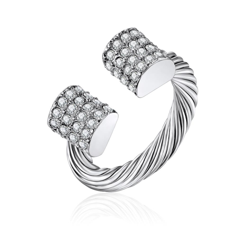 Crystal Twisted Edge Ring