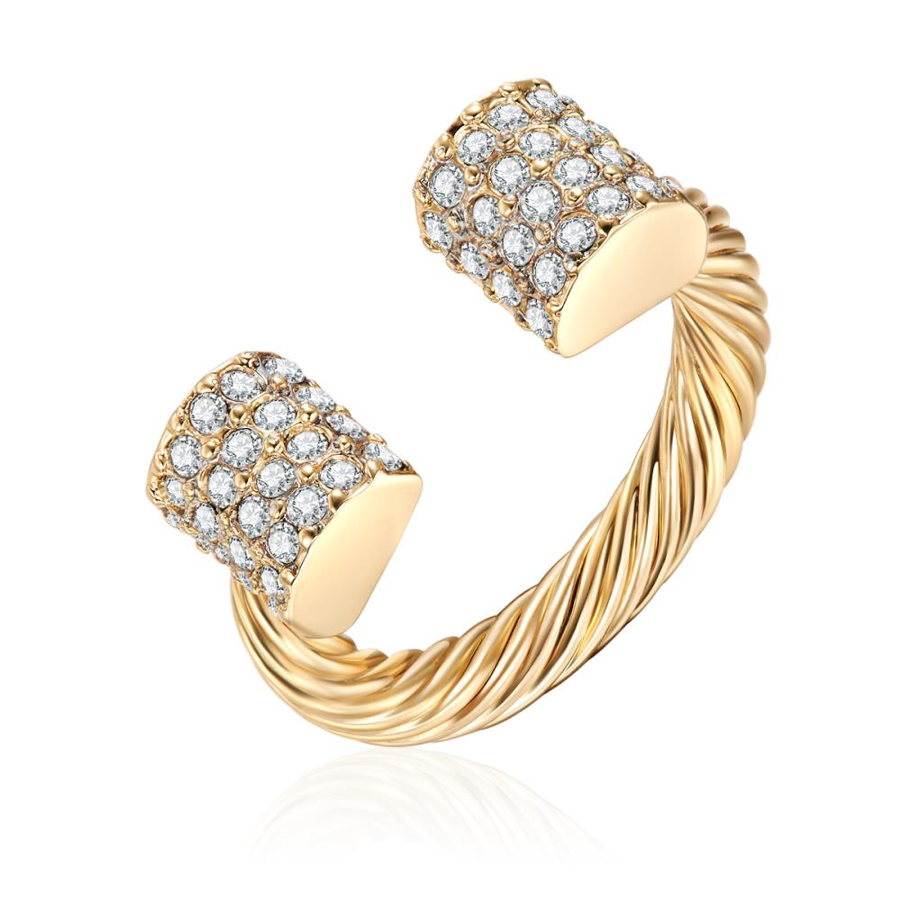 Golden Twisted Edge Ring