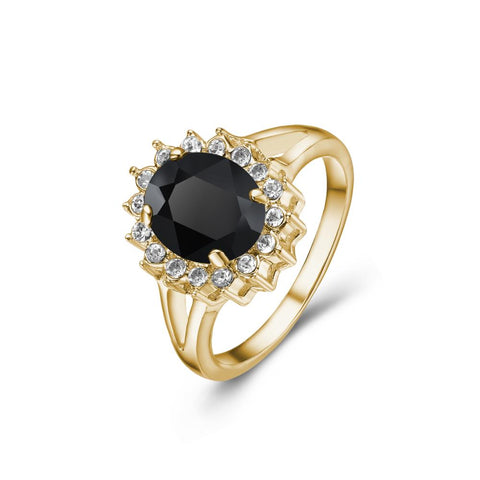 Black Windsor Ring in Gold