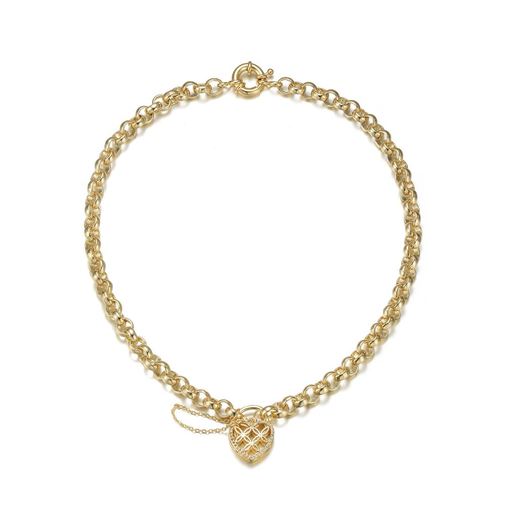 Rani Charm Necklace In Gold
