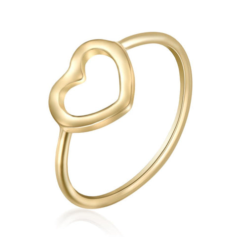 Fine Heart Ring In Gold