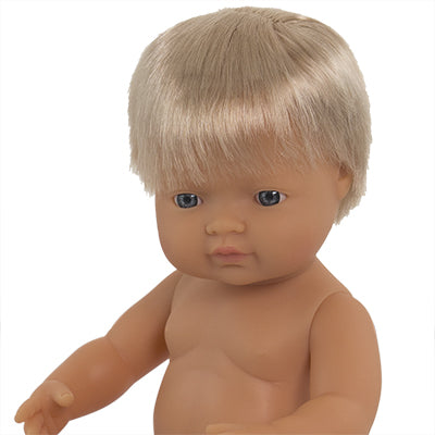 Miniland Doll Caucasian Boy 38cm UNDRESSED