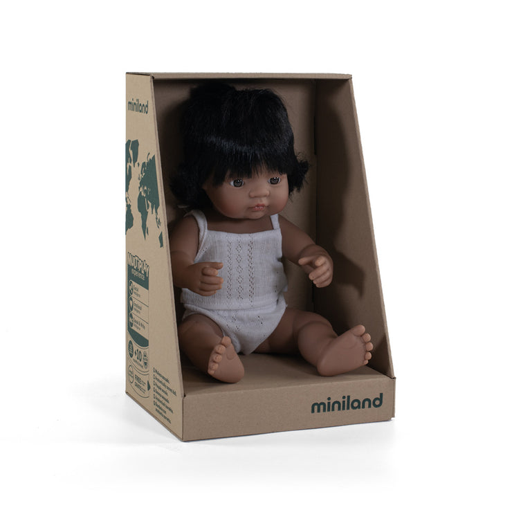Miniland Doll Hispanic Girl 38cm