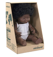 Miniland Doll African Girl with Down Syndrome 38cm
