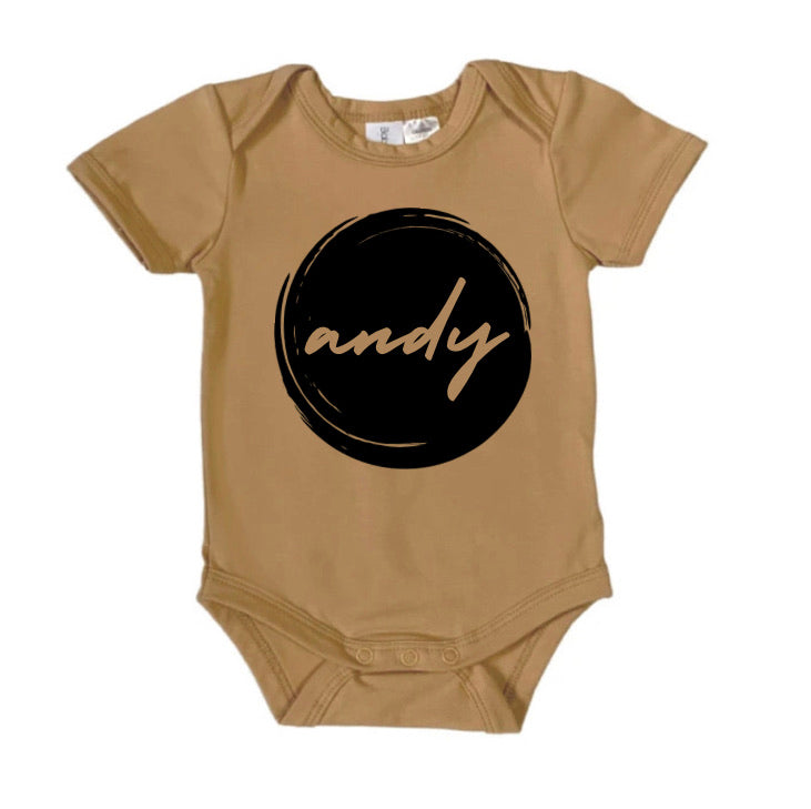 Personalised Butterscotch Grunge Babysuit