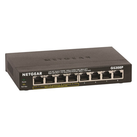Netgear 8-Port Gigabit Ethernet Switch with 4-Ports PoE