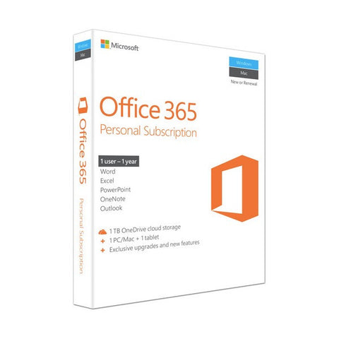 Microsoft Office 365 (PC/Mac) Personal ESD Download 1 Year License