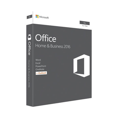 Microsoft Office (Mac) Home & Business 2016 Retail Box Medialess