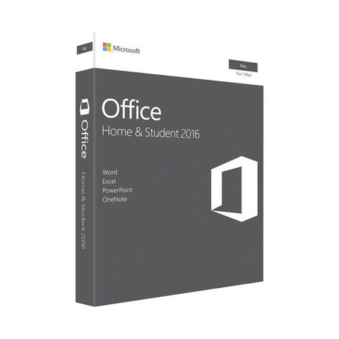 Microsoft Office (Mac) Home & Student 2016 Retail Box Medialess