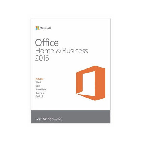 Microsoft Office (PC) Home & Business 2016 Retail Box Medialess