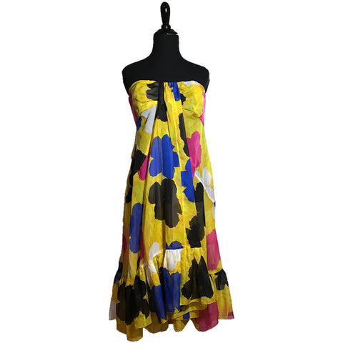 DVF Strapless Andy Warhol Dress (L)