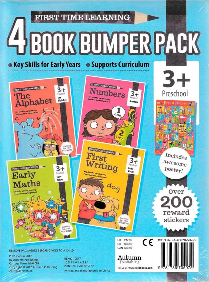 First Time Learning - 4 Book Bumper Pack (3+ / Preschool) - HPH Publishing