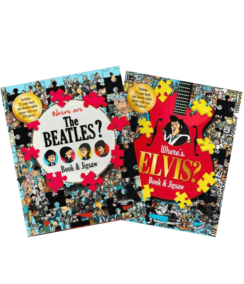 Bundle of Where's Elvis and Where are the Beatles - Books and Jigsaws - HPH Publishing