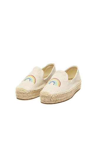 Soludos Rainbow Platform Smoking Slipper