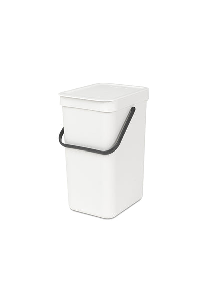 Brabantia 12L Sort & Go Waste Bin, White